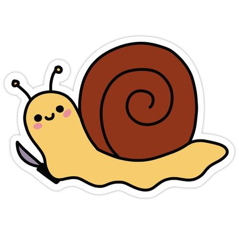 Snail With Knife Die Cut Sticker