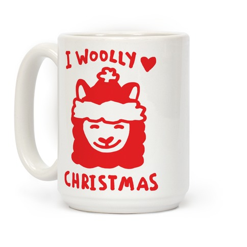 I Woolly Love Christmas Llama Coffee Mug