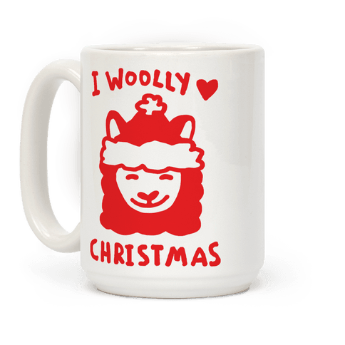 I Woolly Love Christmas Llama Coffee Mug