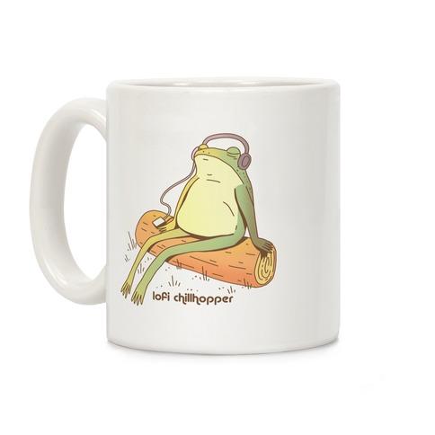 Lofi Chillhopper Frog Coffee Mug