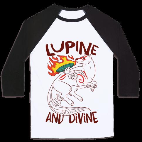 Lupine and Divine  Baseball Tee