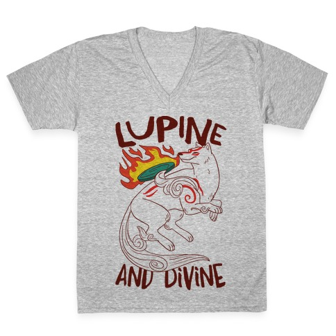 Lupine and Divine V-Neck Tee Shirt