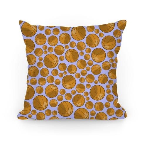 Basketballs Pattern Pillow