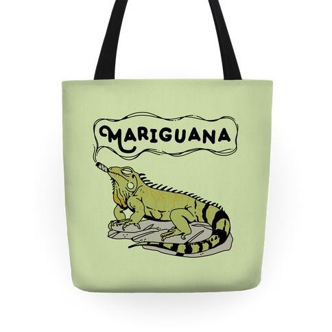Mariguana Marijuana Iguana Tote