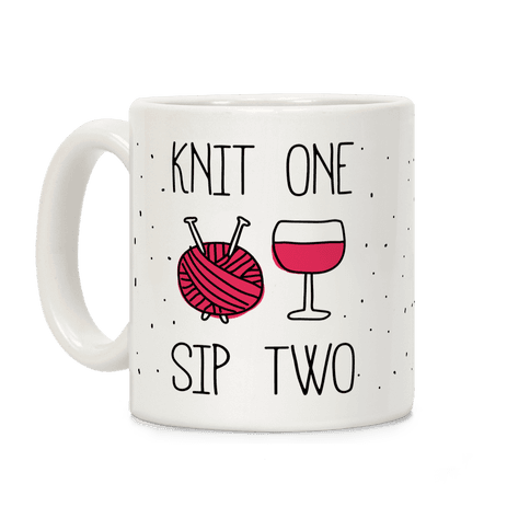 Knit One Sip Two Coffee Mug
