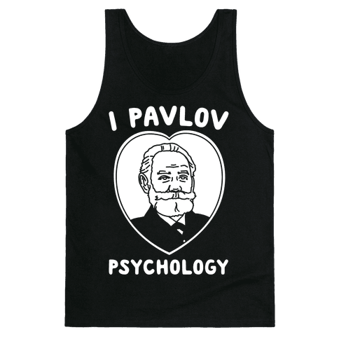 I Pavlov Psychology White Print Tank Top