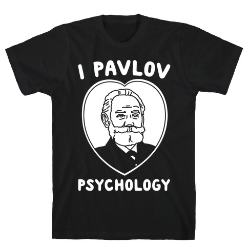 I Pavlov Psychology White Print T-Shirt