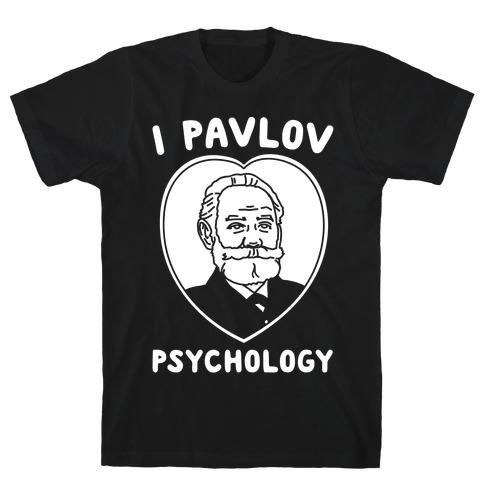 I Pavlov Psychology White Print T-Shirt