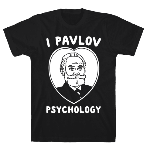 I Pavlov Psychology White Print Mens T-Shirt