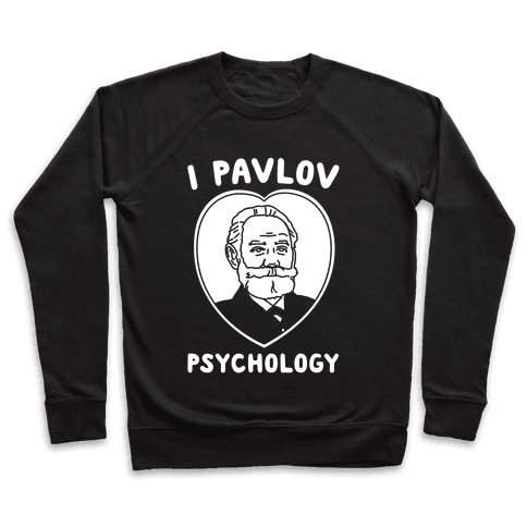 I Pavlov Psychology White Print Pullover