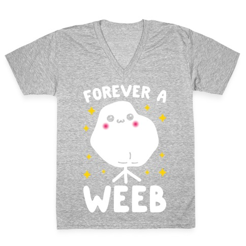 Forever A Weeb V-Neck Tee Shirt