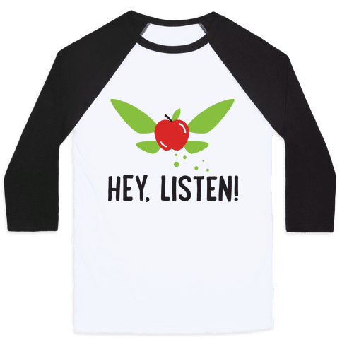 Hey, Listen! Teacher Navi Baseball Tee