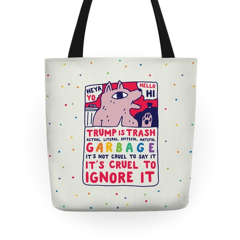 Trump Is Trash Comic Tote