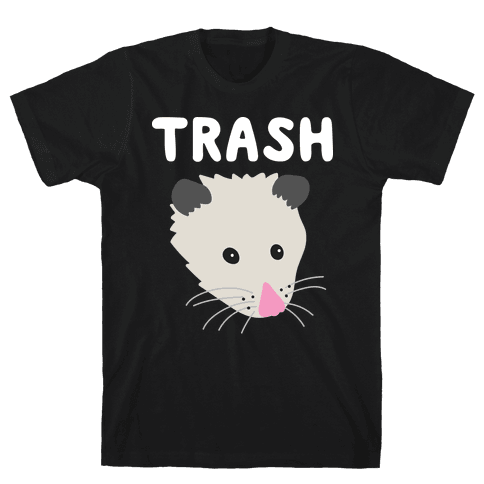 Trash Mates Pair - Opossum 1/2 Mens T-Shirt