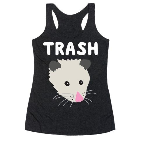 Trash Mates Pair - Opossum 1/2 Racerback Tank Top