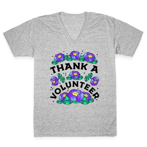 Thank a Volunteer V-Neck Tee Shirt