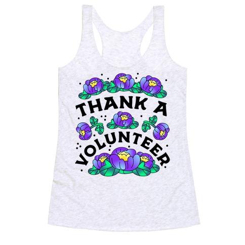 Thank a Volunteer Racerback Tank Top