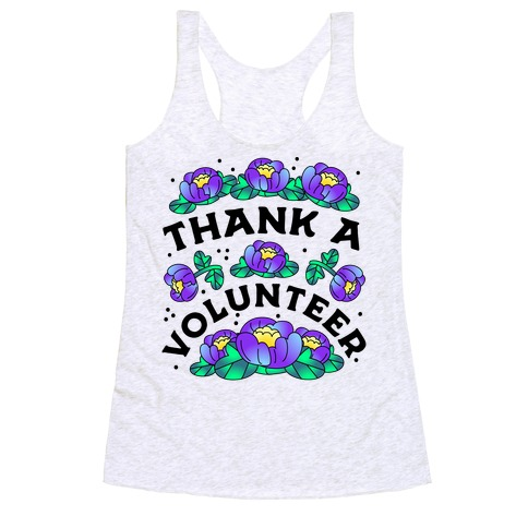 Thank a Volunteer Racerback Tank Top