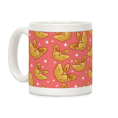 Crab Rangoons Pattern Red Coffee Mug
