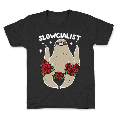 Slowcialist - Socialist Sloth Kids T-Shirt