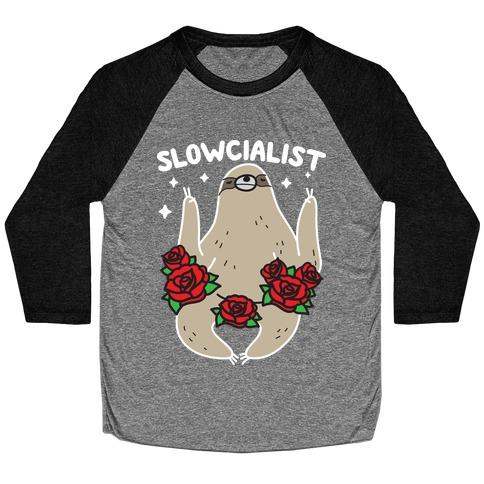 Slowcialist - Socialist Sloth Baseball Tee
