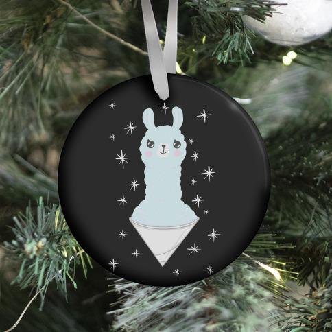 Llama Snow Cone Ornament