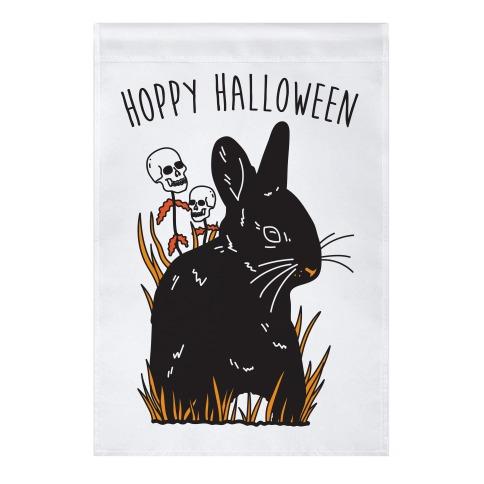 Hoppy Halloween Garden Flag