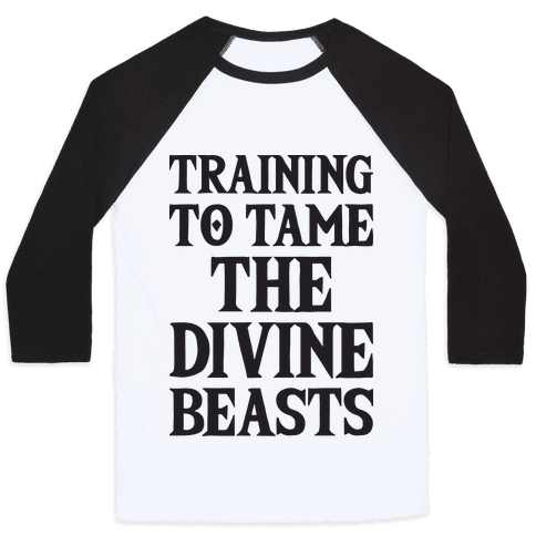 Training To Tame The Divine Beasts Baseball Tee