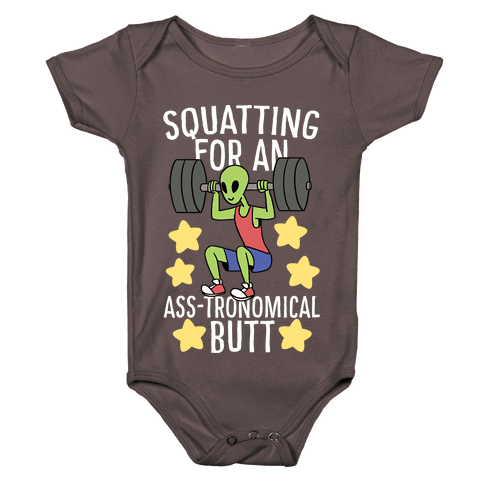 Squatting for an Ass-tronomical Butt Baby One-Piece
