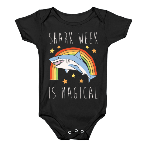 Shark Week Is Magical Parody White Print Baby Onesy