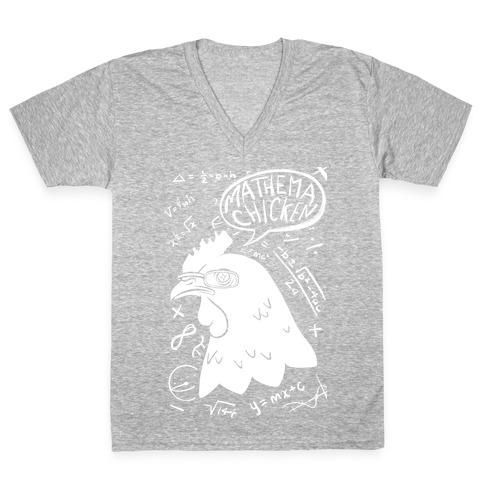 Mathema-chicken V-Neck Tee Shirt