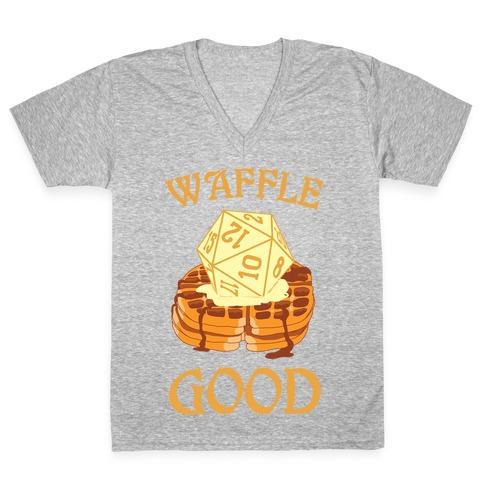 Waffle Good V-Neck Tee Shirt