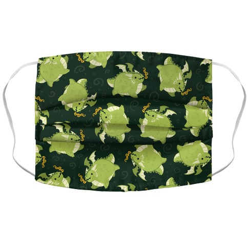 Tubby Dragon Pattern Accordion Face Mask
