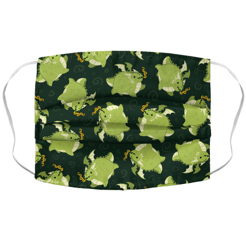 Tubby Dragon Pattern Face Mask Cover