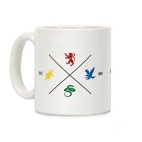 Hogwarts Minimal Crest Coffee Mug