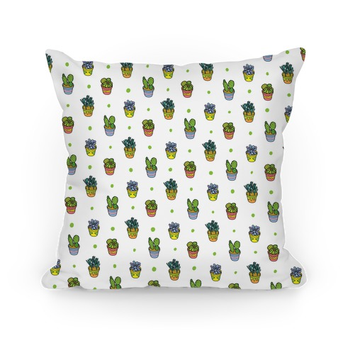 Succulent Pattern Pillow