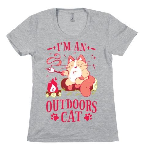 I'm An Outdoors Cat Womens T-Shirt