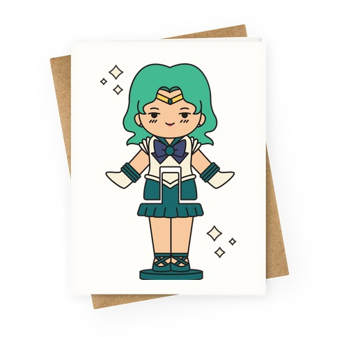 Sailor Neptune Pocket Parody Greeting Card