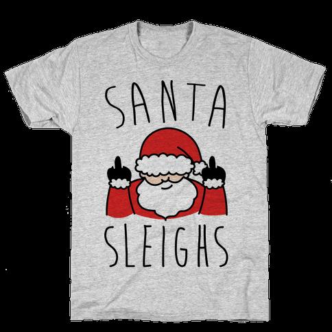 Santa Sleighs Parody Mens T-Shirt