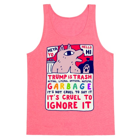 Trump Is Trash Comic Tank Top