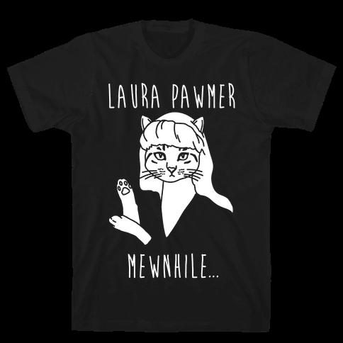 Laura Pawmer Parody White Print Mens T-Shirt