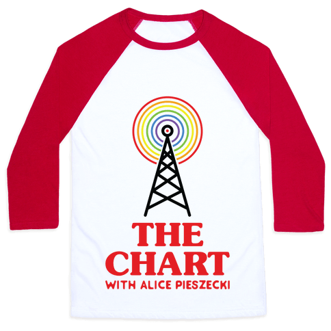 The Chart With Alice Pieszecki Baseball Tee