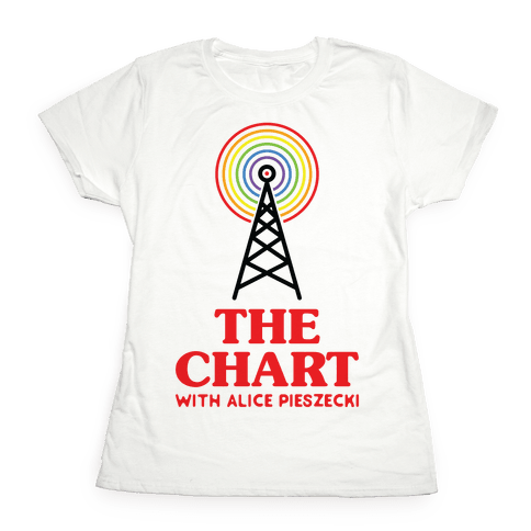 The Chart With Alice Pieszecki Womens T-Shirt