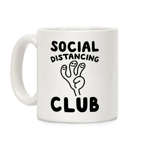 Social Distancing Club Coffee Mug