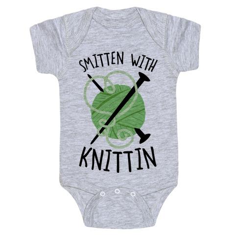 Smitten With Knittin Baby Onesy