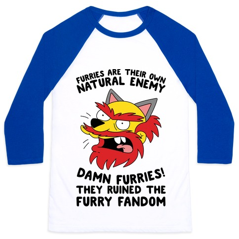 Furries Are Their Own Natural Enemy Baseball Tee