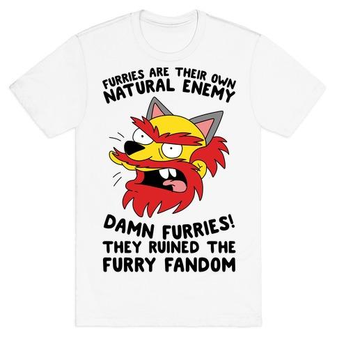 0119dbfac Furries Are Their Own Natural Enemy T-Shirt