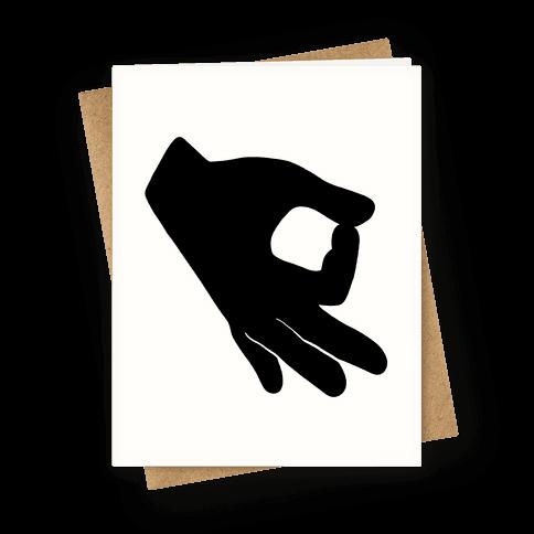 Finger Circle Game Greeting Card