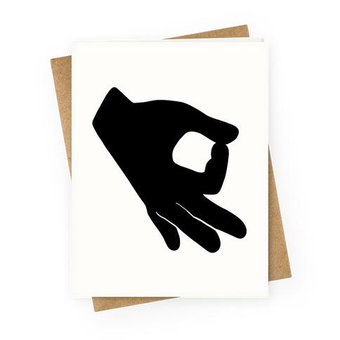Finger Circle  Greeting Card