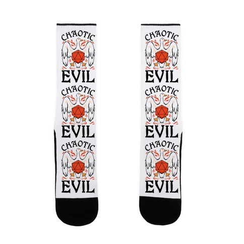 Chaotic Evil Goose Sock